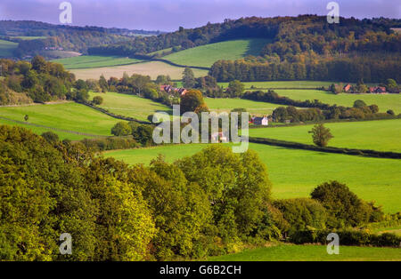 Hambleden Valley  Buckinghamshire UK October - Stock Photo