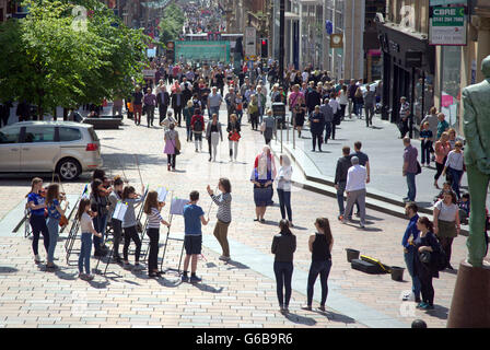 Glasgow, Scotland, UK. 23rd June, 2016. On the day of the Brexit vote The Glasgow Gaelic School ironically perform - Stock Photo