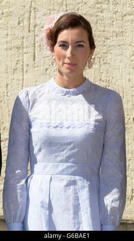 Princess Claire of Luxembourg attends the Te Deum at the Cathedral Notre-Dame in Luxembourg during the National - Stock Photo