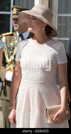 Princess Alexandra of Luxembourg attends the Te Deum at the Cathedral Notre-Dame in Luxembourg during the National - Stock Photo