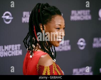 Munich, Germany. 23rd June, 2016. Actress Fatoumata Diawara arrives for the screening of the film 'Toni Erdemann' - Stock Photo