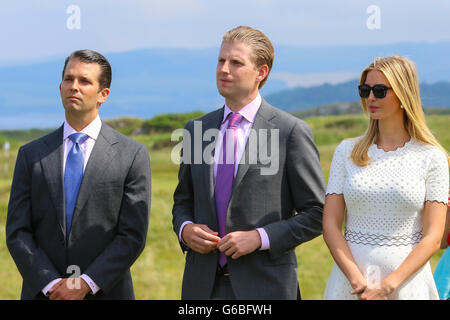 Turnberry, Scotland, UK. 24th June, 2016. Donald Trump flew into Scotland today to officially open his multimillion - Stock Photo