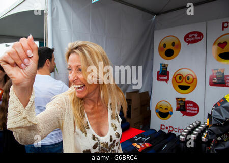 SANTA MONICA, CA - JUNE 11: Attendees at the Ovarian Cancer Research Fund Alliance's 3rd Annual Super Saturday Los - Stock Photo