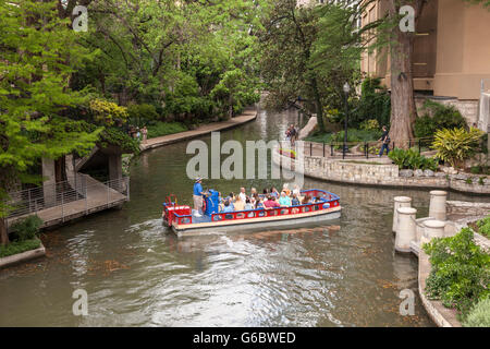 San Antonio River Walk, Texas - Stock Photo
