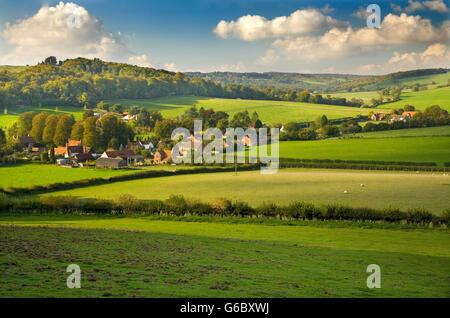 Fingest Village Buckinghamshire UK October - Stock Photo