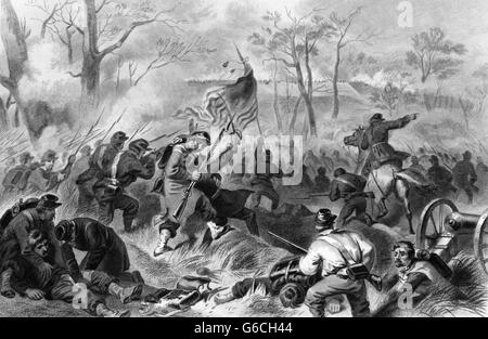 1860s 1862 CAPTURE OF FORT DONELSON TENNESSEE CHARGE OF GENERAL SMITH'S UNION DIVISION Stock Photo