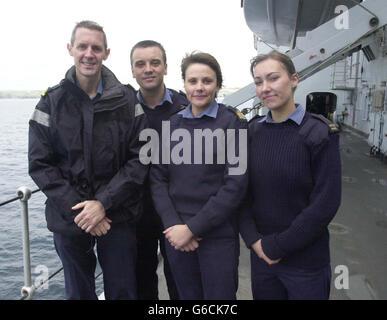 HMS Ark Royal Crew Return Home - Stock Photo