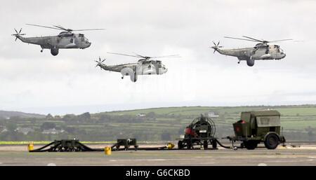 849 Squadron Returns Home - Stock Photo