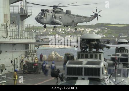 HMS Ark Royal Returns Home - Stock Photo