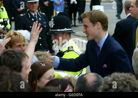 Prince Charles and Prince William - Stock Photo