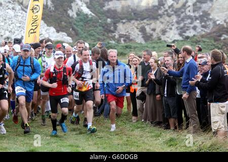 Ring O' Fire Anglesey Coastal Ultra Marathon - Stock Photo