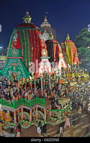 Rathyatra festival in Puri, Orissa, India - Stock Photo