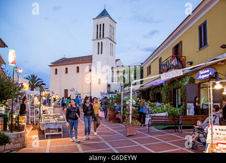 San Teodoro at Night Sardinia Italy - Stock Photo