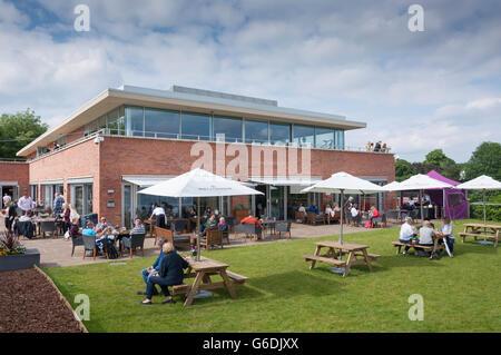 Club house at Edgbaston Priory Club, Edgbaston, Birmingham, West Midlands, England, United Kingdom - Stock Photo