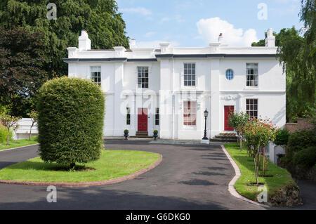 Large detached house, Wellington Road, Edgbaston, Birmingham, West Midlands, England, United Kingdom - Stock Photo