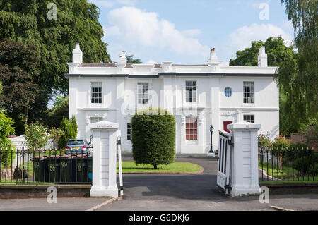 Large detached house, Wellington Road, Edgbaston, Birmingham, West Midlands, England, United Kingdom - Stock Photo