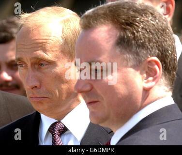 Russian President visits Edinburgh - Stock Photo