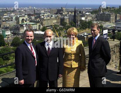 Putin in Scotland - Stock Photo