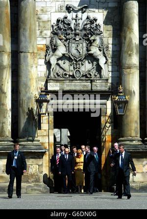 Putin Edinburgh visit - Stock Photo