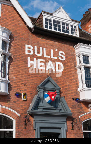 The Bull's Head Pub, High Street, Moseley Village, Moseley and Kings Heath, Birmingham, West Midlands, England, - Stock Photo