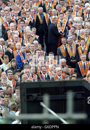 Portadown Orangemen - Stock Photo