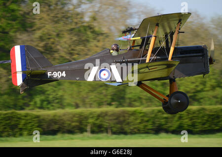 Royal Aircraft Factory S.E.5 was a British biplane fighter aircraft of the First World War. F904 at an airshow - Stock Photo