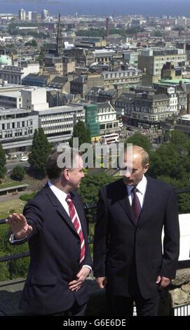 Putin and McConnell in Edinburgh - Stock Photo