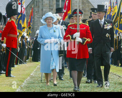 Queen Elizabeth visits the Isle of Man - Stock Photo