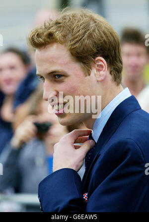 prince William Visits Wales - Stock Photo