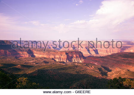 View from Crazy Jug Point North Rim Grand Canyon National Park Arizona - Stock Photo