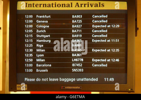 Heathrow strike - Stock Photo