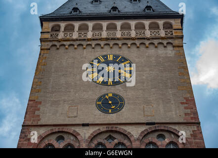 Clock tower in Germany - Stock Photo