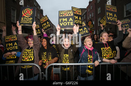 Fight for Your Future Now protests - Stock Photo