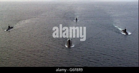 HMS Splendid returns home - Stock Photo