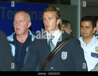 England arrive in Istanbul - Stock Photo