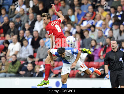 Soccer - Sky Bet Championship - Blackburn Rovers v Charlton Athletic - Ewood Park - Stock Photo