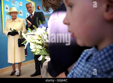 Queen Elizabeth II in Enfield - Stock Photo