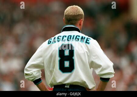 Soccer - Euro '96 - England v Spain. Paul Gascoigne, England