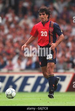 Soccer, Euro 96. England v Spain, Wembley. Miguel Angel Nadal, Spain