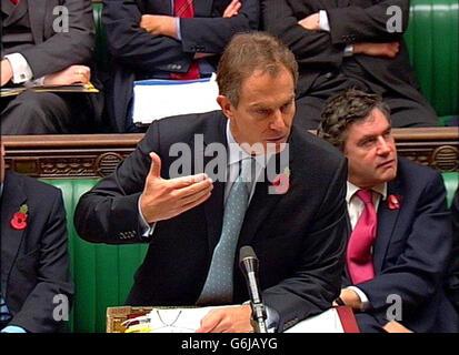 POLITICS PMQs Blair - Stock Photo