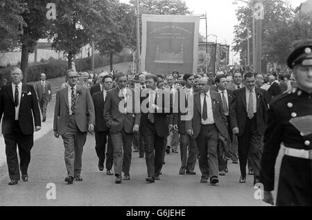 Strikes and Protests - Yorkshire Miners Rally - Doncaster - Stock Photo