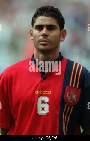 Soccer - Euro 96 - Quarter Final - England v Spain. Fernando Hierro, Spain