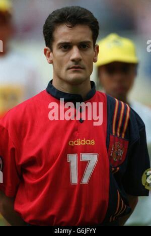 Soccer, Euro 96. England v Spain, Wembley. Javier manjarin, Spain