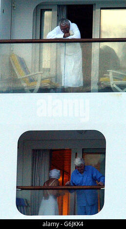 Stricken Passengers On The Aurora Cruise Ship - Stock Photo