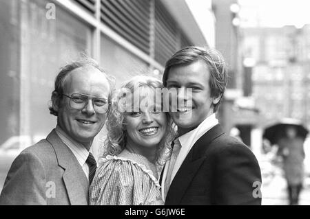 Television - Channel Four Stars - Graeme Garden, Dinah May and John Moulder-Brown - London - Stock Photo