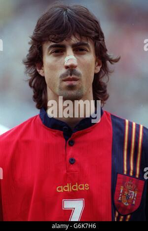 Soccer. Euro 96. Romania v Spain. Jose Emilio Amavisca, Spain