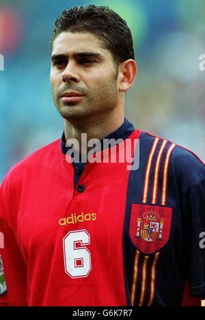 Soccer.  Euro 96. Romania v Spain