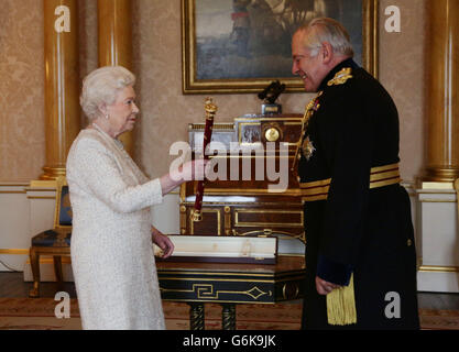 Lord Guthrie receives Field Marshal's Baton - Stock Photo