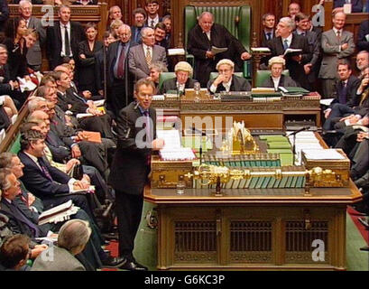 Tony Blair Prime Minister's Question Time - Stock Photo
