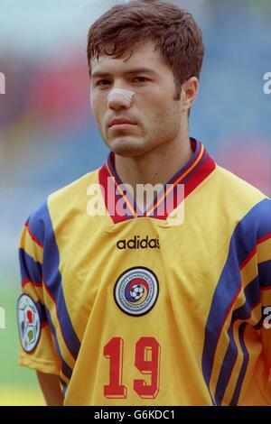 Soccer. Euro 96. Romania v Spain. Adrian Ilie, Romania